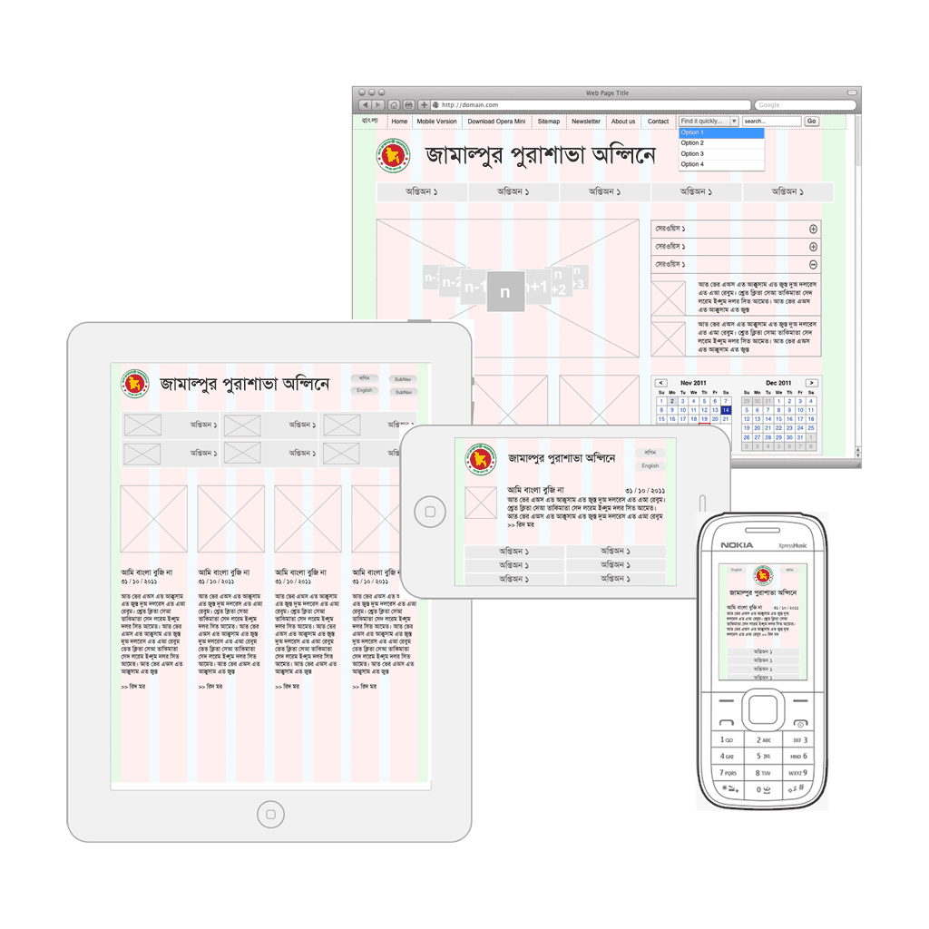 Responsive Design Wireframes